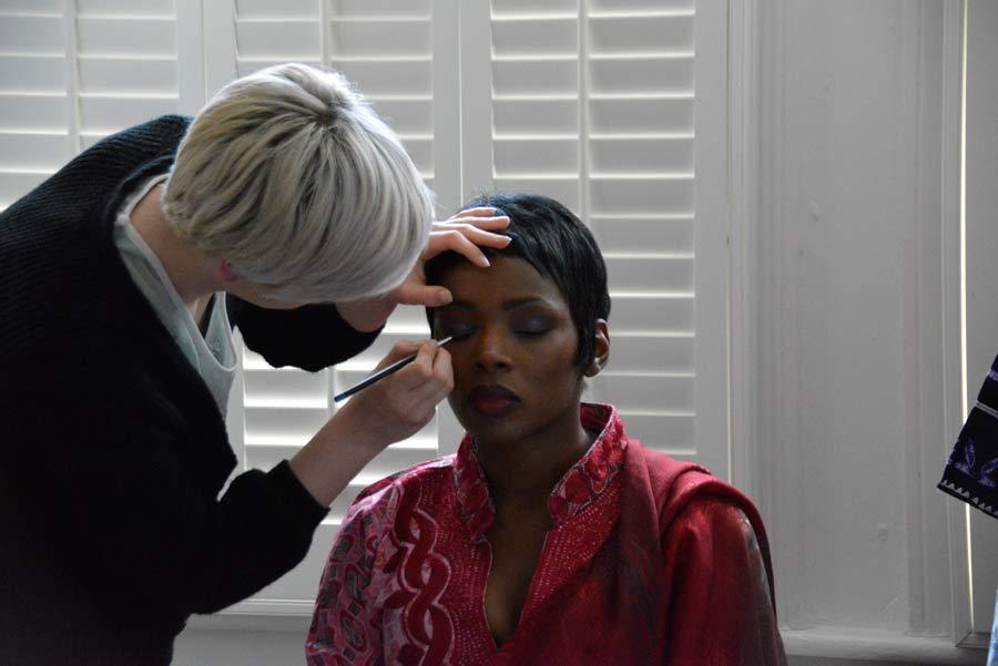 AMJ: Caroline in the makeup chair